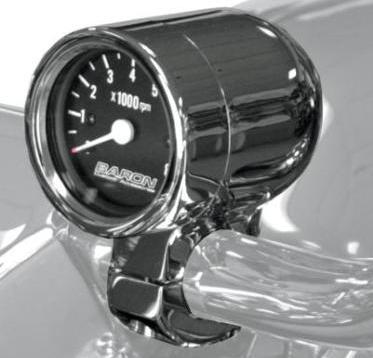 "Baron Bullet Tachometer for 1"" Bars BA-7570-01"