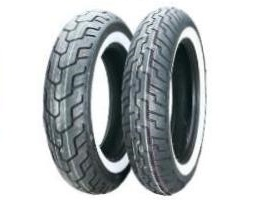 Dunlop D404 Wide White Wall Motorcycle Tires