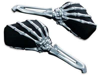 Kuryakyn Skeleton Bi-Colored Hand Mirrors 1759