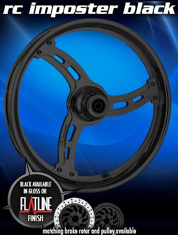 RC Components Billet Motorcycle Rim RC Imposter Black