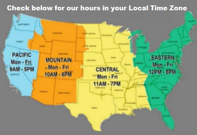 Hours we are open in your time zone